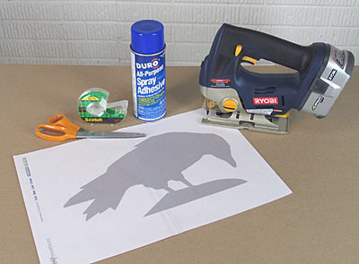 halloween template crow instructions