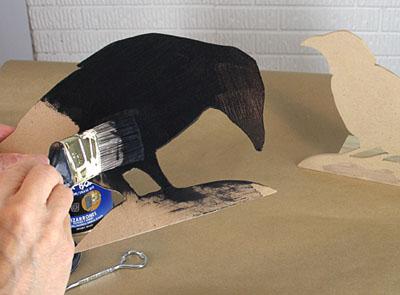 photo - paint crows