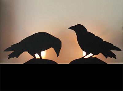 photo - halloween template crow