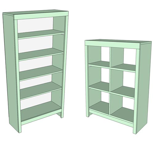 blueprints for bookshelves