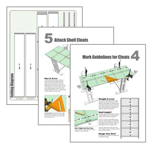 ez bookcase plans
