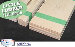 Bulk Kts - Scale Basswood Lumber