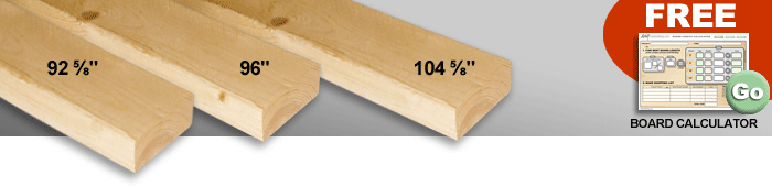 lumber dimensions - strange 2x4 lengths