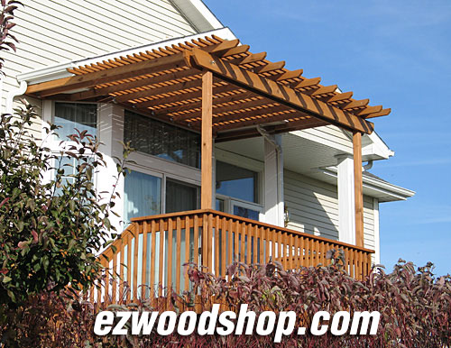 pergola plans from ezwoodshop.com - Pergola Plans - How To Build A Pergola Attached To House Or Deck