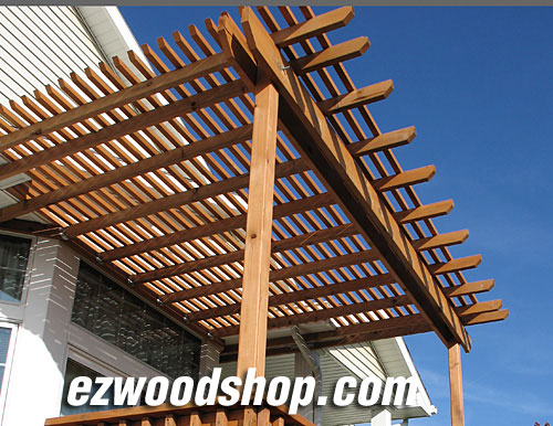 attached pergola designs plans