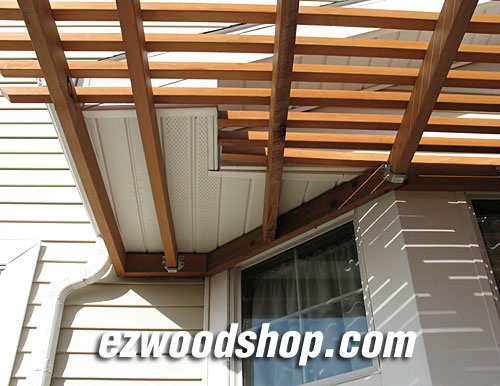 attached pergola plans - Pergola Plans - How To Build A Pergola Attached To House Or Deck