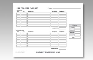 EZ Wood Project Planner