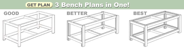 3 Workbench Plans in One